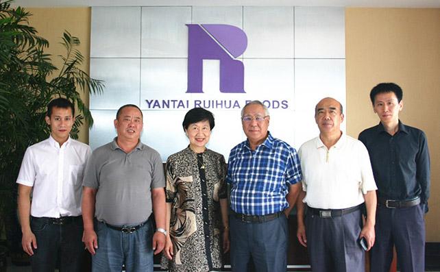 台湾食品科技学会理事长孙璐西教授来我司访问