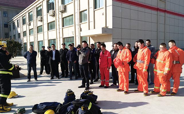 烟台高新区微型消防站联合演练